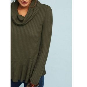 Anthropologie NWT Maeve Winterscape Green Sweater